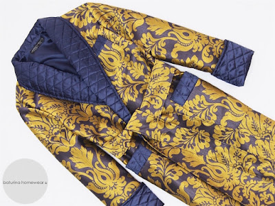 mens quilted dressing gown paisley silk luxury man robe vintage style extra long warm heavy
