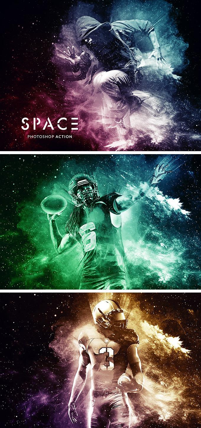 Space Photoshop Action Photoshop Area