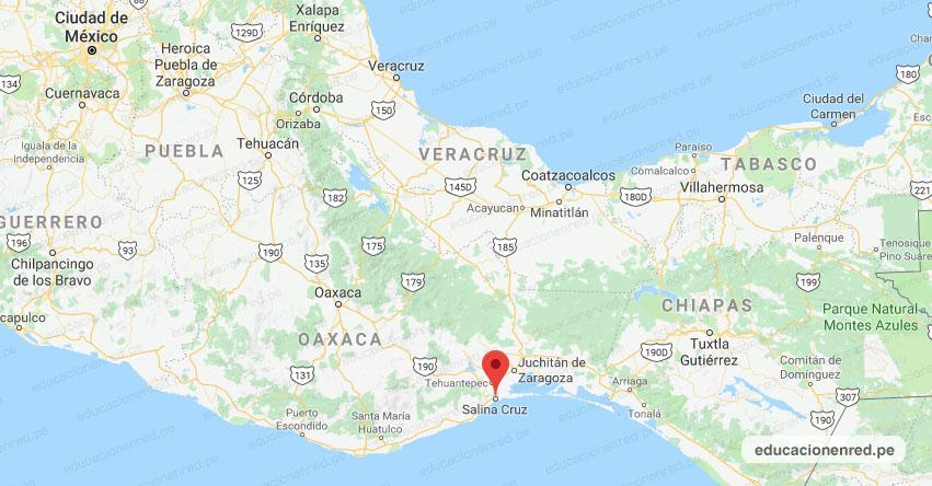 Temblor en México de Magnitud 4.2 (Hoy Miércoles 22 Abril 2020) Sismo - Epicentro - Salina Cruz - Oaxaca - OAX. - SSN - www.ssn.unam.mx