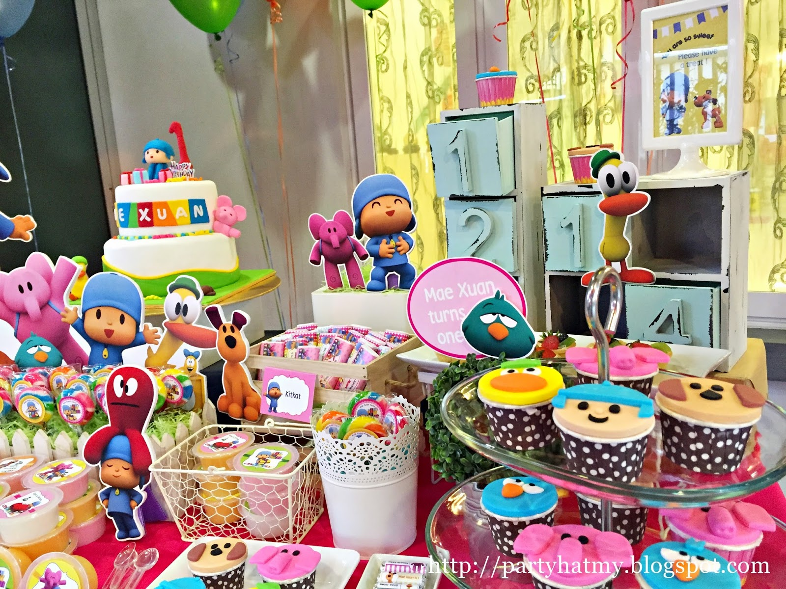 Birthday Decorations: Party Hat: Pocoyo Birthday Party For Mae Xuan