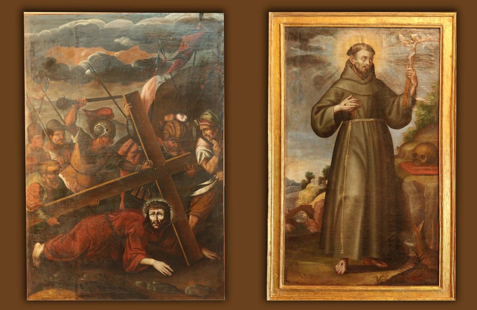 Las obras coloniales recuperadas forman parte de un lote de siete cuadros sustraídos del templo de San Pedro