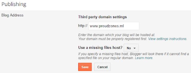 Adding custom domain name