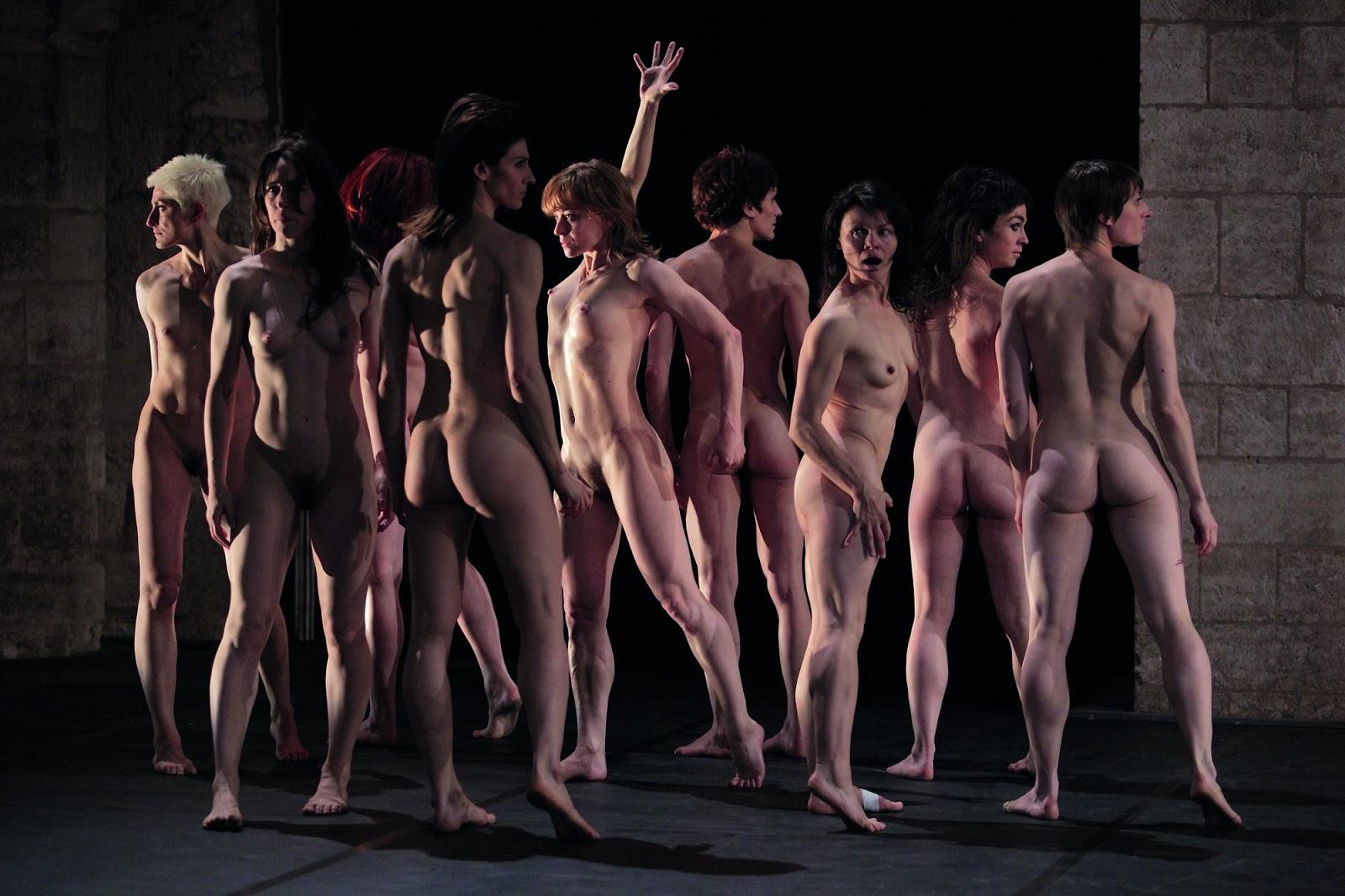Lisbeth gruwez fabre nude oil dance - 2 4