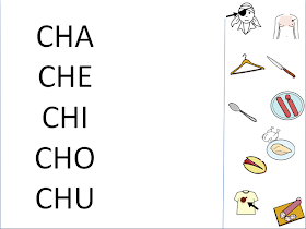Palabras con ch intermedia