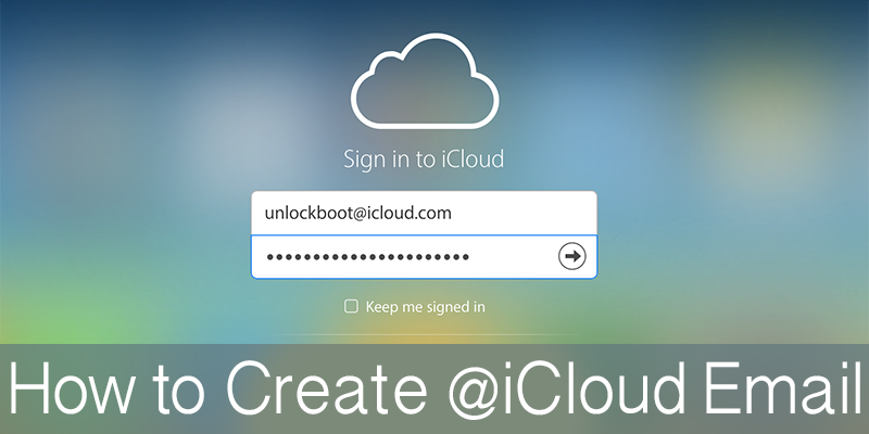 Create iCloud Email Address