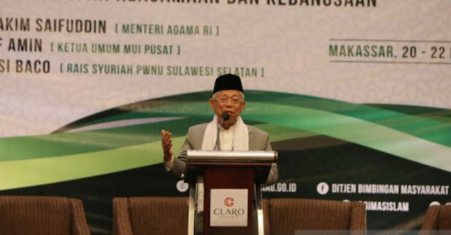KH Ma'ruf Amin: Pembuat Hoaks Calon Ahli Neraka