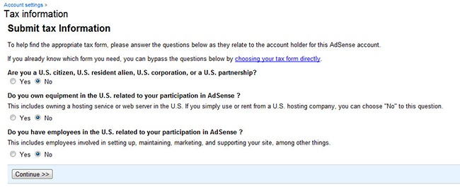 Publisher-Tax-Info-Adsense