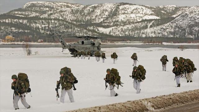Marines de EEUU en Noruega se alistan para guerra con Rusia