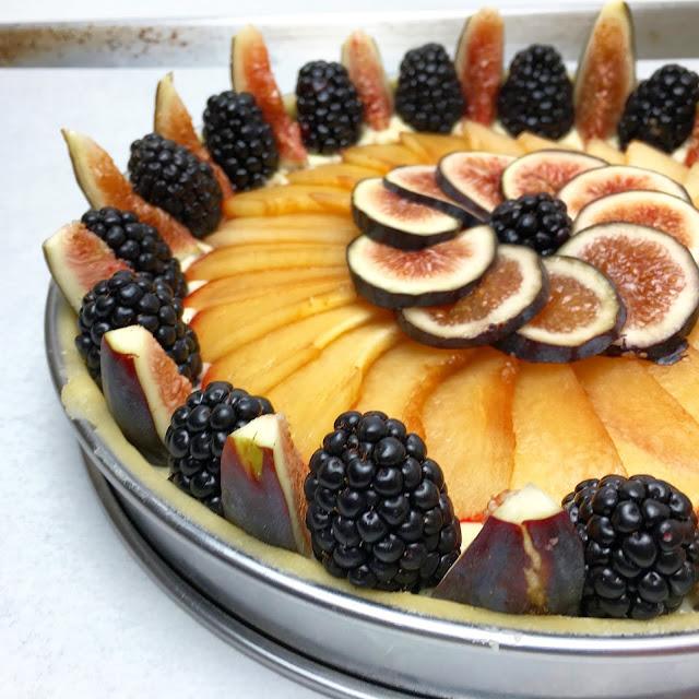 Unbaked Seasonal Fruit Frangipane Tart