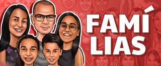 caricaturas de familias