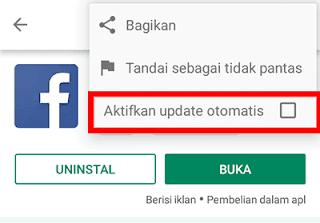 cara mematikan auto update google play service