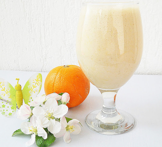 Georgia Rose: Orange banana smoothie