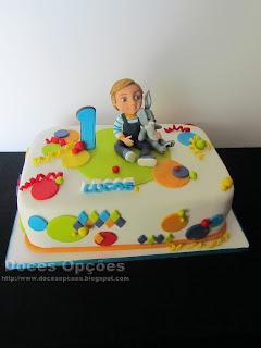 Bolo do 1º aniversário do Lucas