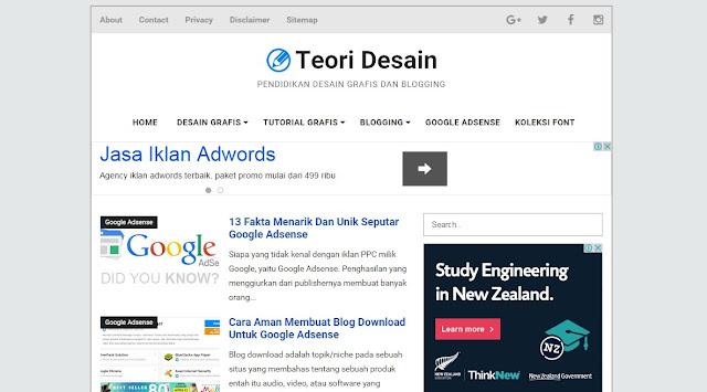 Teori Desain Blogger Template Special Edition