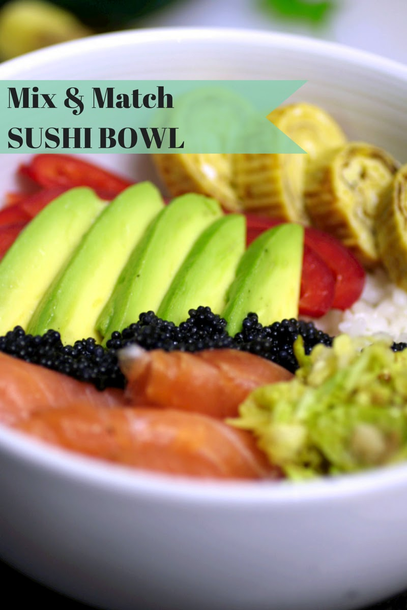 Mix & match sushi bowl - how to make fresh and healthy deconstructed sushi full of vegetables, proteins and flavour!  It tastes just like your favourite sushi without the hassle of rolling!
