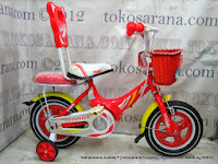 Sepeda Anak Erminio 1299 Sandaran 12 Inci