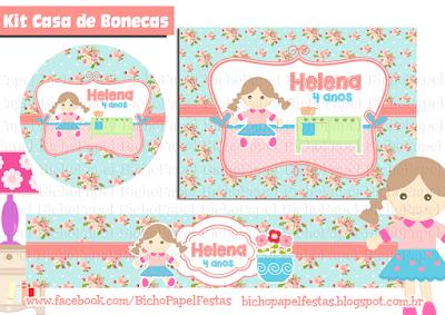 kit festa casinha de boneca