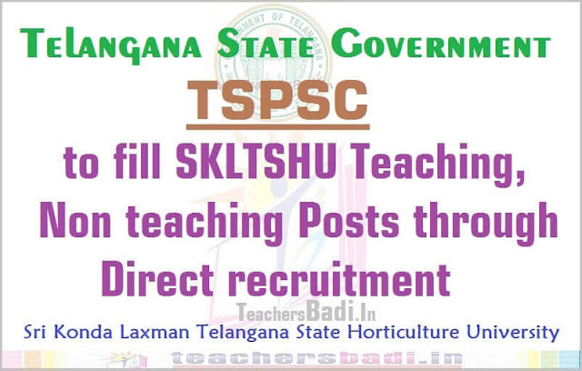 TSPSC,SKLTSHU,Teaching Non teaching Posts
