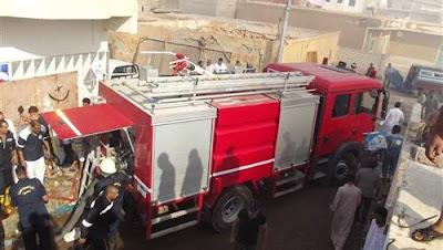 الحماية المدنية بسوهاج تسيطر علي حريق بـ 4 منازل