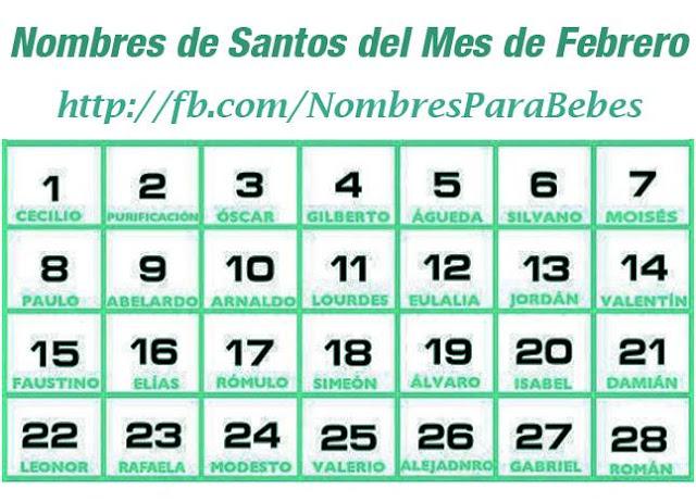 NOMBRES DE SANTOS DEL MES DE FEBRERO_ nombresparabebesvarones