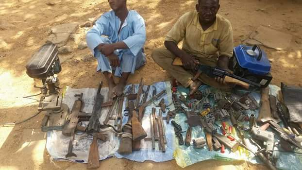 Photos: Troops arrest gun runner and arms manufacturers in Nasarawa State