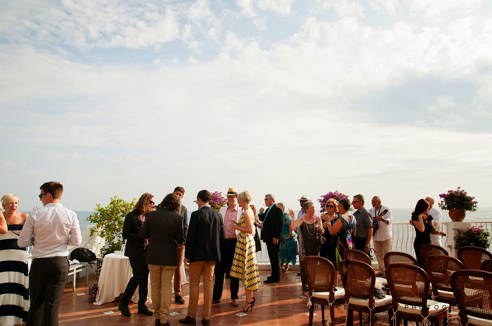 Wedding reception at the Hotel Marincanto in Positano