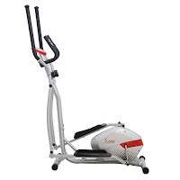 Sunny Health & Fitness SF-E3416 Magnetic Elliptical Trainer, heavy duty crank, smooth quiet magnetic mechanism, 8 resistance levels, LCD workout monitor