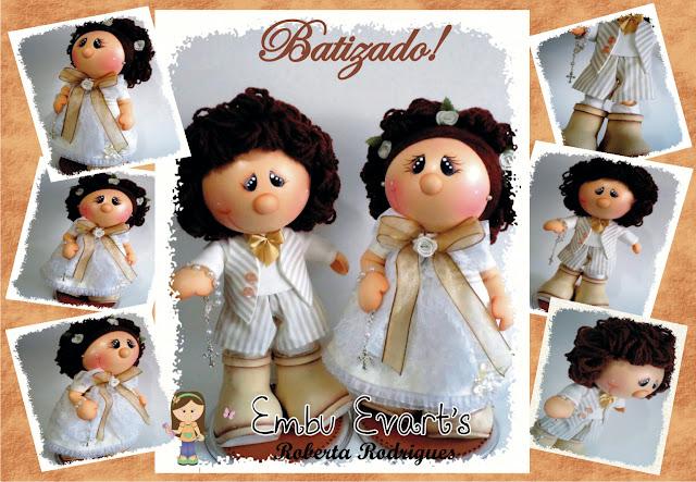 bonecos em eva para batizado