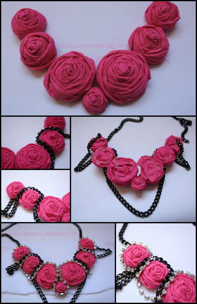 Agape Love Designs: DIY Rosette Statement Necklace