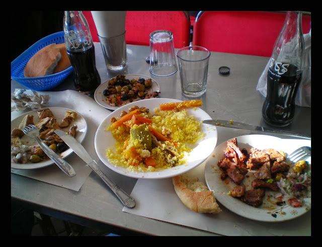 Comer en Marrakech: cuscús y carne