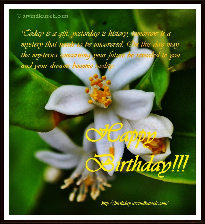 Gift, history, mystery, dreams, Happy Birthday, Birthday card