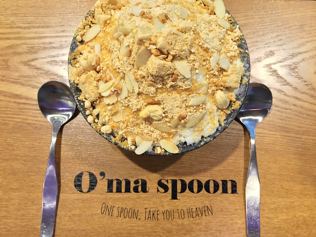 O'ma spoon Korean Dessert Cafe - Injeolmi Bingsu