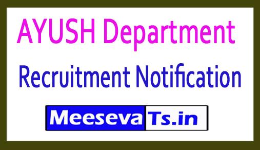 AYUSH Department Recruitment