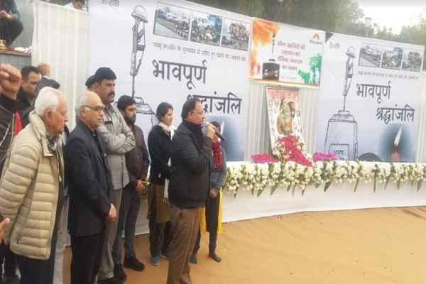 minister-vipul-goel-tribute-pulwama-attack-martyr-in-sector-12-town-park