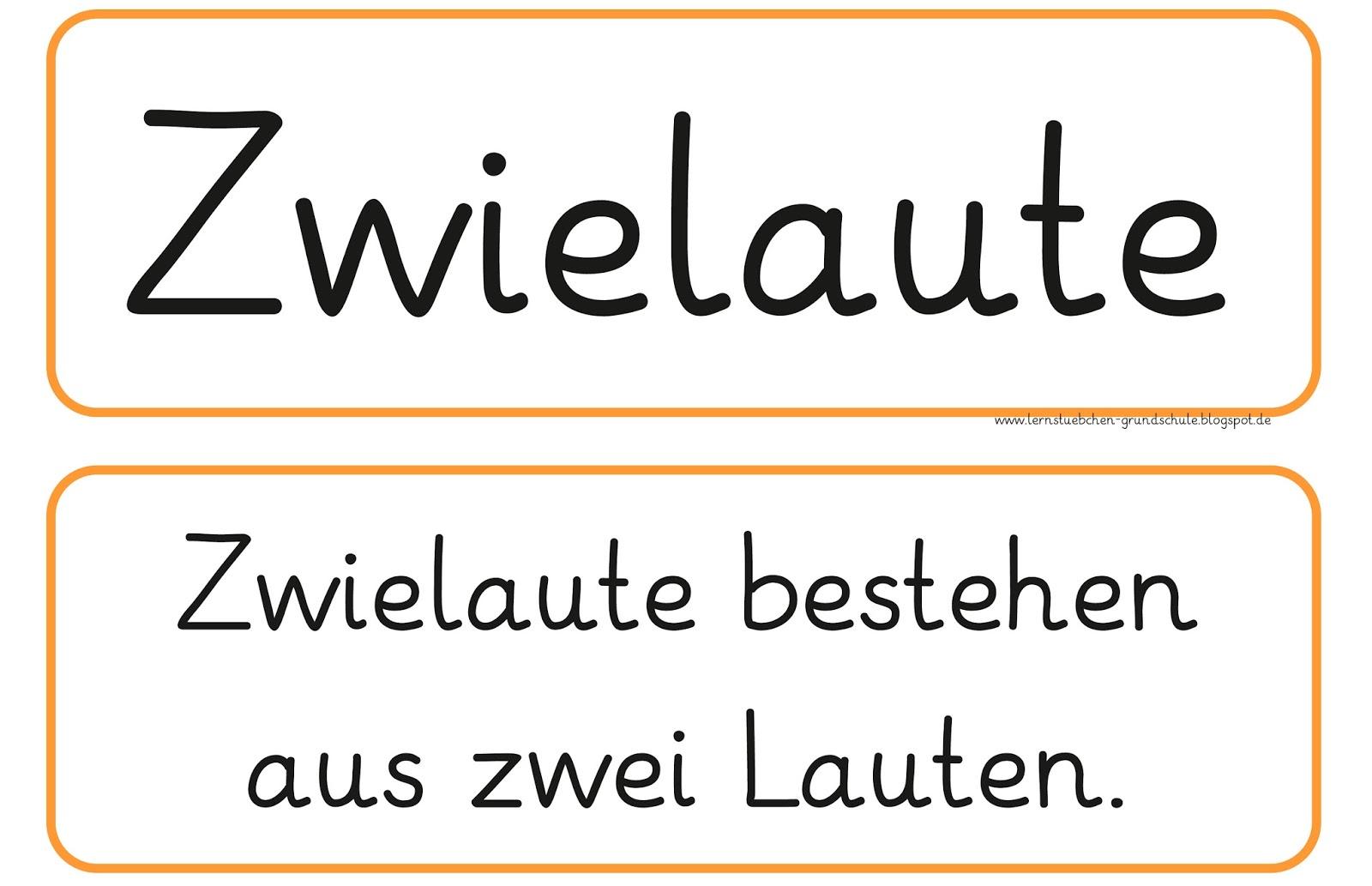 Arbeitsblatt Deutsch Umlaute : Lernstübchen zwielaute