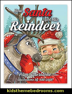 How Santa Got His Reindeer    Christmas decorating ideas - Christmas decor - Christmas decorations - Christmas kitchen decor - santa belly pillows - Santa Suit Duvet covers - Christmas bedding - Christmas pillows - Christmas  bedroom decor  - winter decorating ideas - winter wonderland decorating - Christmas Stockings Holiday decor Santa Claus - decorating for Christmas - 3d Christmas cards - xmas tree decor