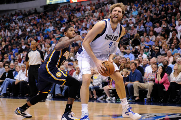 Paul George (Indiana Pacers) vs Dirk Nowitzki (Dallas Mavericks)