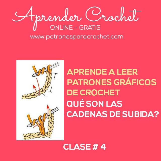 Qué son las cadenas de subida / Clase #4 | Patrones para Crochet