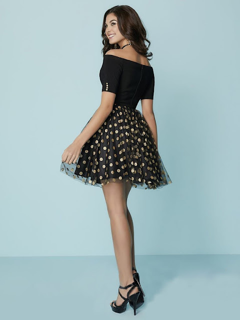 Short black dress for girls