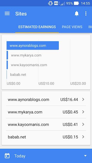 Google Adsense Akhirnya Meningkat Cecah USD17 Sehari