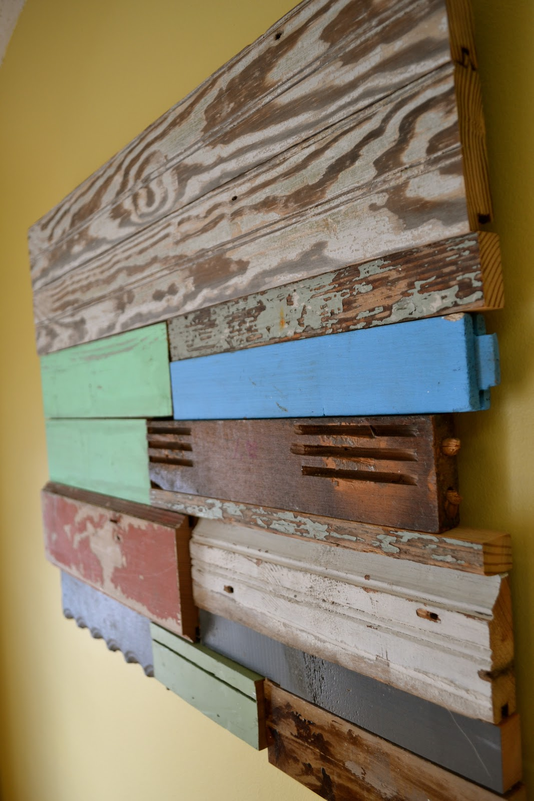 the domestic doozie diy reclaimed wood wall art. Black Bedroom Furniture Sets. Home Design Ideas