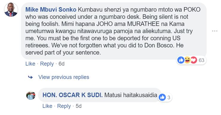 Sonko Bequeaths Oscar Sudi A Nasty and Unforgettable Valentine Gift