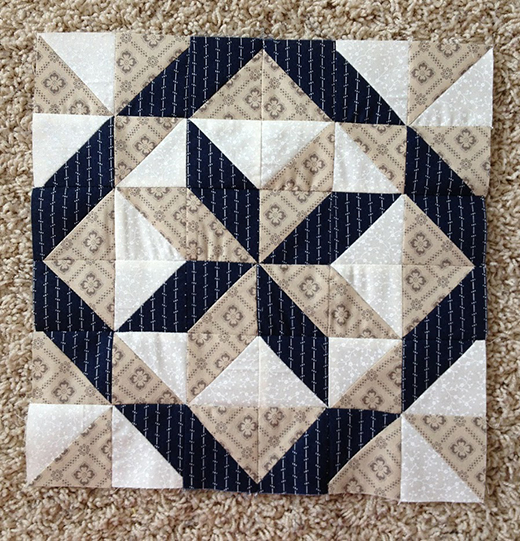 ll Hallows Quilt Block made by Leisha, The Pattern designed by Janet Wickell of The Spruce Crafts