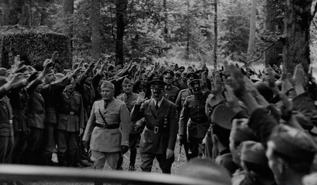 Hitler and Mussolini, 30 August 1941 worldwartwo.filminspector.com