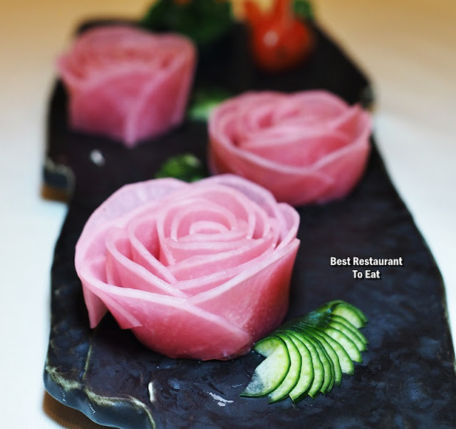 Oriental Group Restaurant China & Nanyang Pink Roses - Pickled Radish