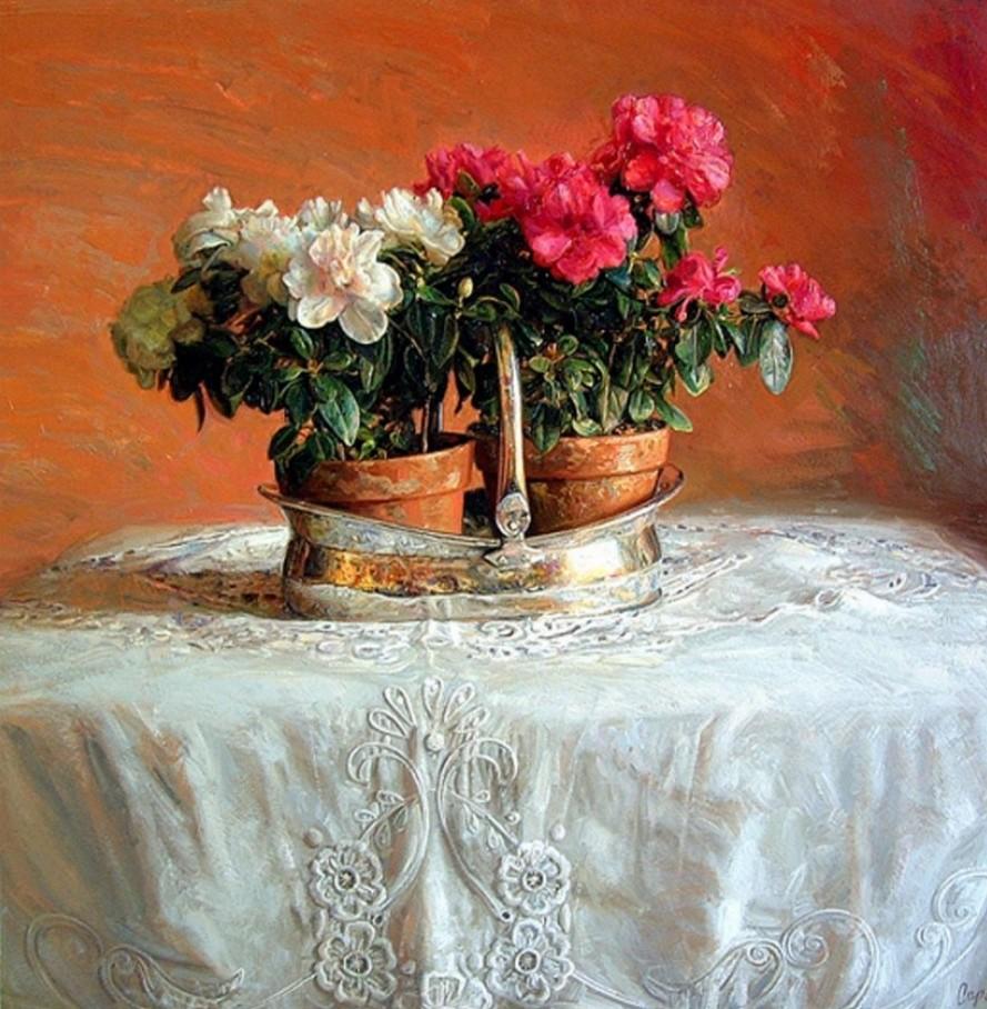 Cuadros Modernos Pinturas Y Dibujos Cuadros De Rosas Pintadas Al Leo