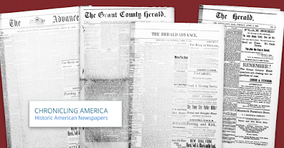 Chronicling America - Historic Newspapers (with front pages of the newspapers)