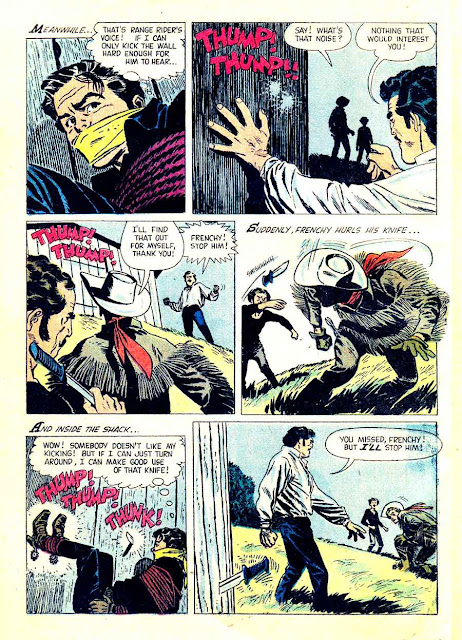 Western Roundup v1 #18 dell comic book page art by Alex Toth