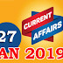 Kerala PSC Daily Malayalam Current Affairs 27 Jan 2019