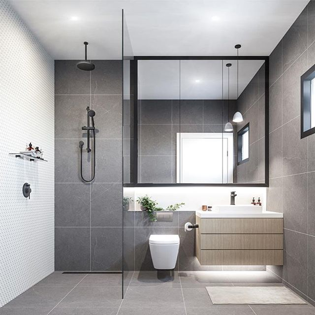Beautiful Bathroom Color Schemes For 2018: Branco E Cinza é A Combinação Do Momento